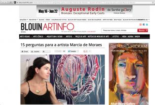 15 Perguntas Para Marcia De Moraes, ARTINFO, Por Camila Regis