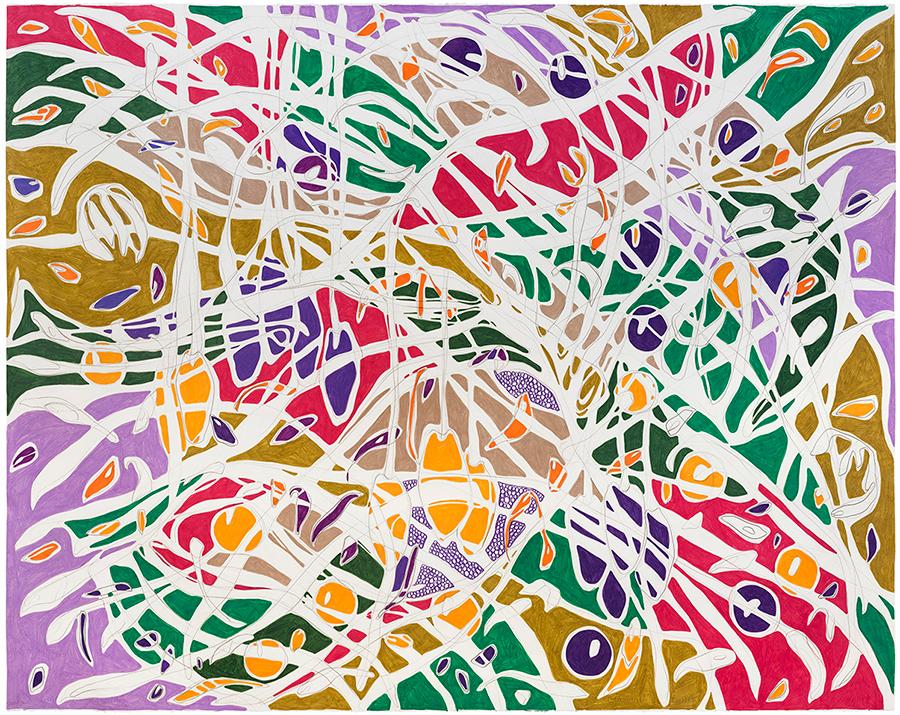 Amarelo. Cacau., 2017 Grafite e lápis de cor sobre papel 140 x 180 cm
