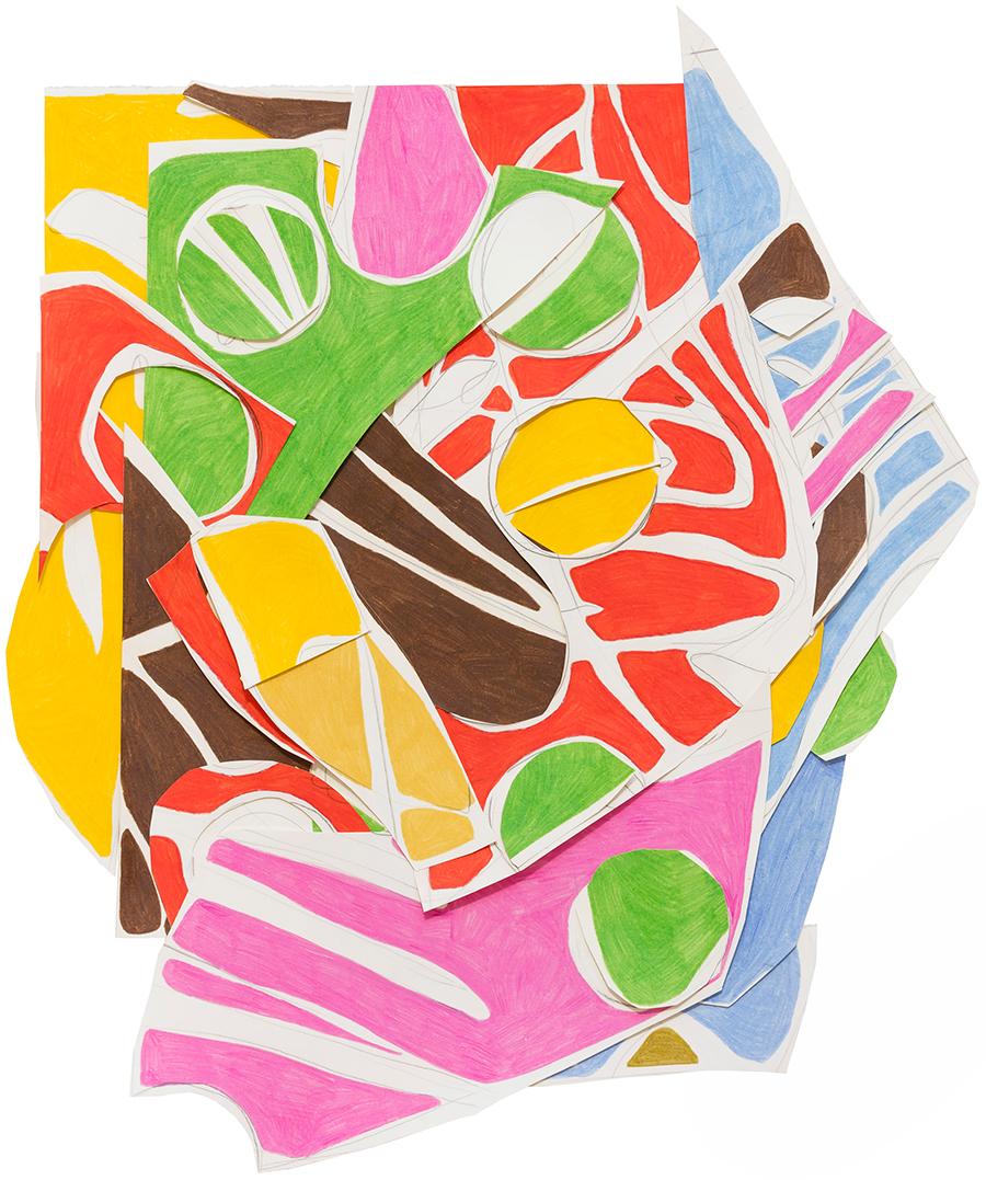 Sinal Verde, 2017 Colagem de papéis desenhados com grafite e lápis de cor 60 x 55 cm