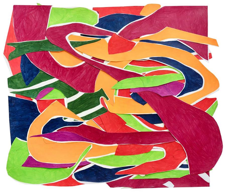 Marcia de Moraes Vai e vem, 2019 Colagens de papéis, desenhos com grafite e lápis de cor 74 x 87 cm