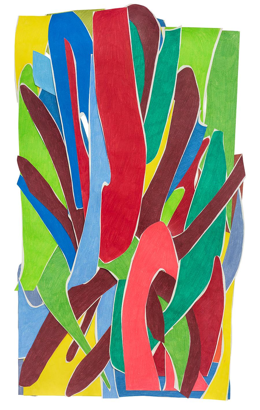 Marcia de Moraes Octopus, 2020 Colagens de papéis, desenhos com grafite e lápis de cor 94 x 56 cm