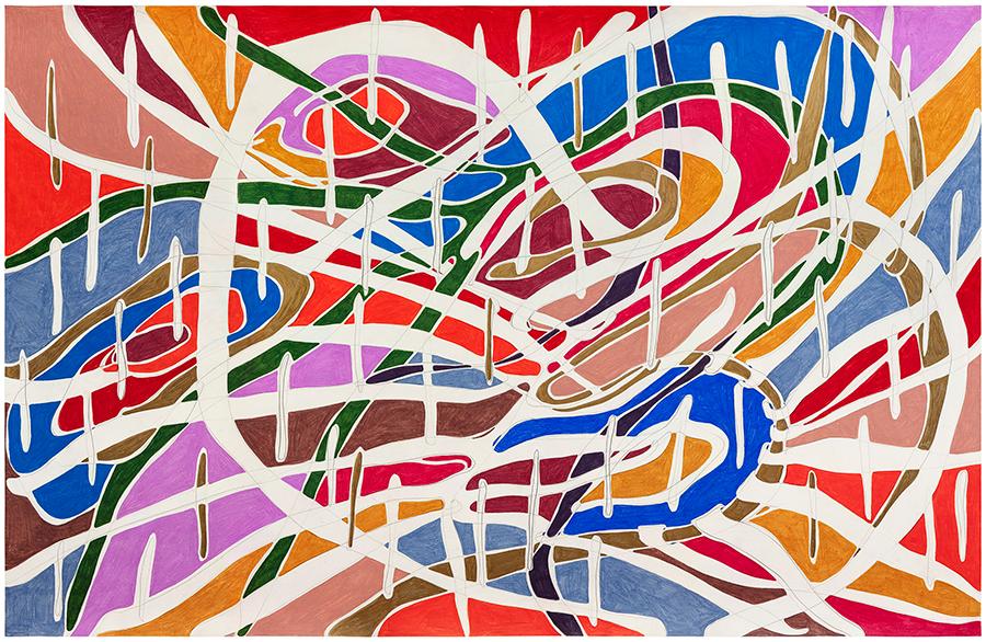 Marcia de Moraes O expansivo (o sol), 2021 Grafite e lápis de cor sobre papel 100 x 153 cm