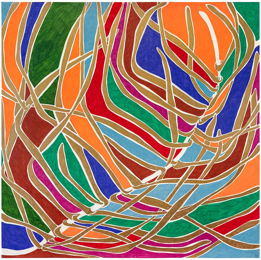 Marcia de Moraes A Dourada, 2021 Grafite e lápis de cor sobre papel 120 x 120 cm